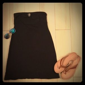Strapless black dress from Victoria's Secret